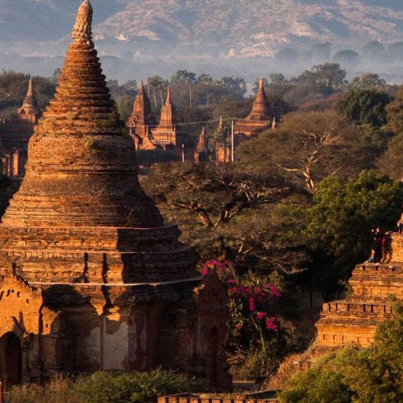 Climbing Temple Mynammar